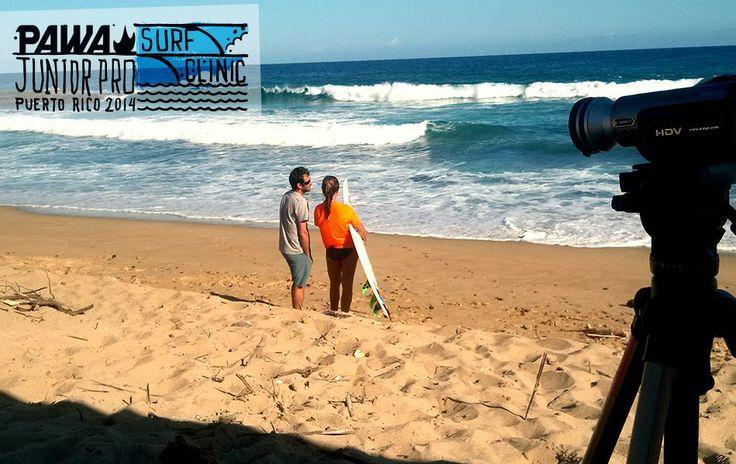 Pawa Junior Pro Surf Clinic Puerto Rico - Day 3 - Carlos and Savanna Cabrero  #pawasurfclinic #pawasurf