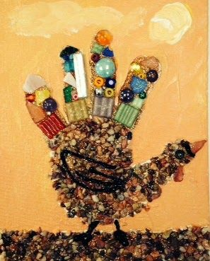 fall craft ideas for teens mosaic turkey craft for a thanksgiving day craft 6548