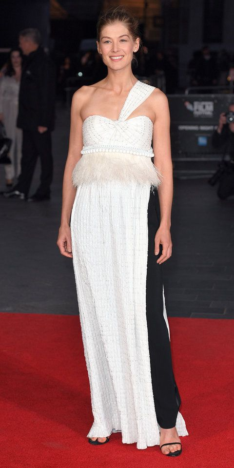 A dress? Or a suit? Rosamund Pike went with both for the A United Kingdom premiere during the BFI London Film Festival, selecting a look by Givenchy Haute Couture by Riccardo Tisci.