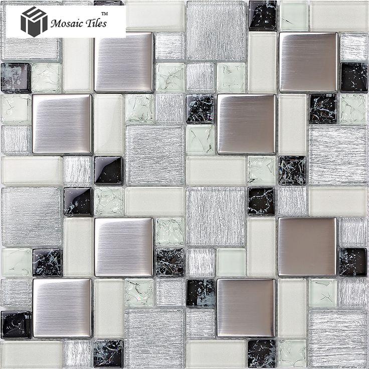 Crystal Gl Tile Backsplash Satin Patterns Silver Plated Brushed Mosaic Tiles For Kitchen And Bathroom Shower Wall Design Size Color Yellow