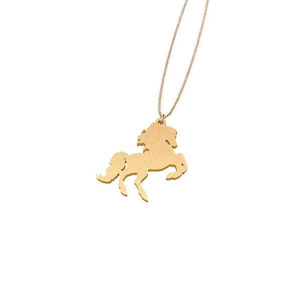 Wild horse Zazzy gold plated jewelry necklace