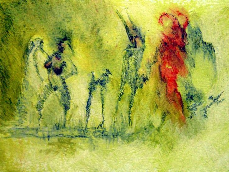 La Parade. Pastels gras et graphite sur papier, 40x30 cm. 2012.