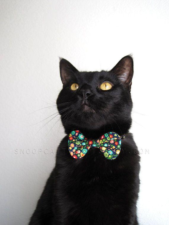 Girl Cat Bow Tie  I Love The Flower Girl by SnoopCattyCatt on Etsy, $15.00