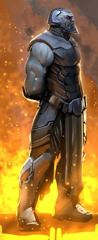 Darkseid. The Hitler/Thuggee of the DC Universe. He has a planetary army of genetically perfect soldiers willing to die to succeed. Darkseid seeks the Anti-life equation so he may kill existence.