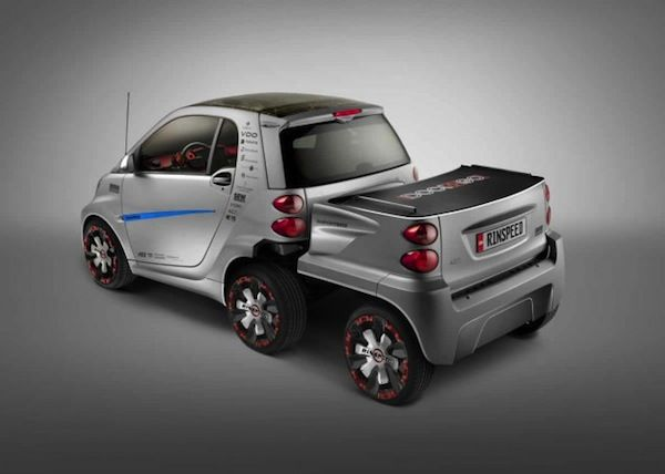 Rinsd Gives Smart Fortwo Ed Two Extra Wheels More Junk In The Trunk Great Cars Vehicles