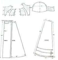 Authentic Regency ball gown pattern with measurements
