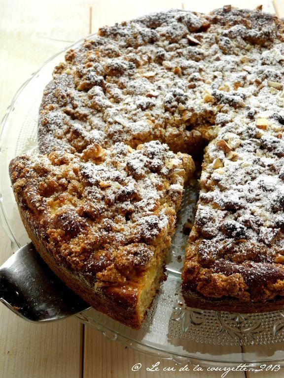 Gâteau crumble à la pomme et à la noisettes | Blog de cuisine bio : Le cri de la courgette...