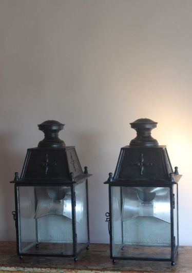 These Are A Pair Of French Antique Wall Lanterns Still With The Original Reflectors For Wall Lightingoutdoor