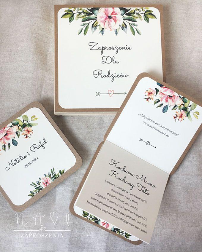 Zaproszenia Dla Rodzicow W Drewnianej Szkatulce Oryginalne I Piekne Wedding Invitations Wedding Cards Handmade Invitations