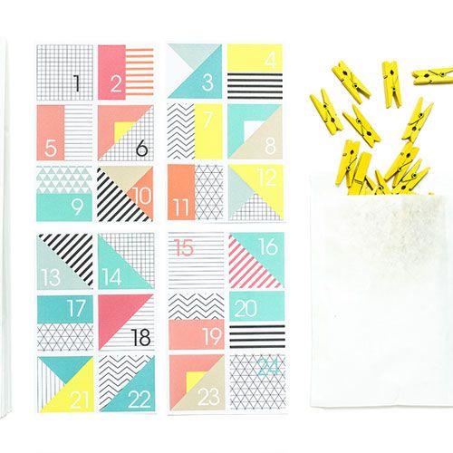 Geometric colour shape bags - Advent Calendar