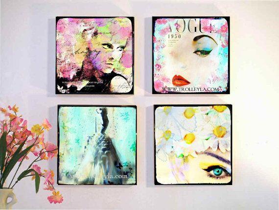 Retro Vintage Fashion Wall Art Pop Fashion by trolleyla on Etsy, $60.00