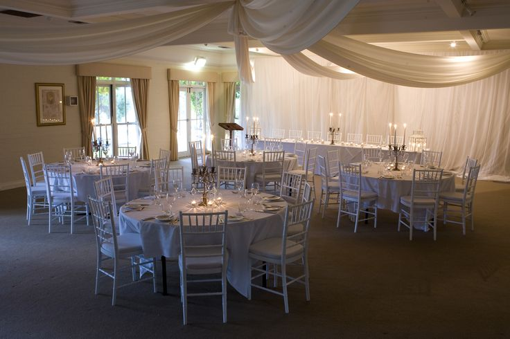 White elegant tables - Sydney Props Specialists