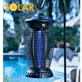 Solar Insect Whacker can be placed anywhere in the yard..all it needs is sun to charge. No cord!