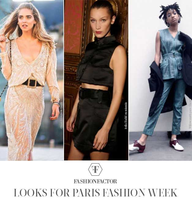 If you're one of the lucky ones to attend Fashion Week in Paris... Rock a stylish outfit that sets an international and glamorous tone to live up to. Chiara Ferragni in Cavalli , Bella Hadid in Miu Miu and Willow Smith for Chanel, show us hot to do it.