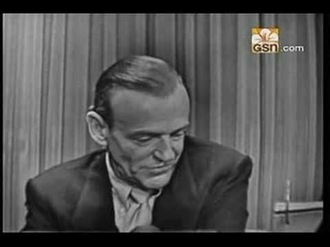Fred Astaire--What's My Line - He was so shy and didn't think he could sing!!