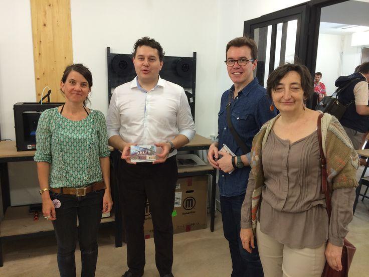 Inauguration de @draftateliers atelier de conception & fabrication #Pajol @JoelleMorel11 @EricLejoindre @fredbadina