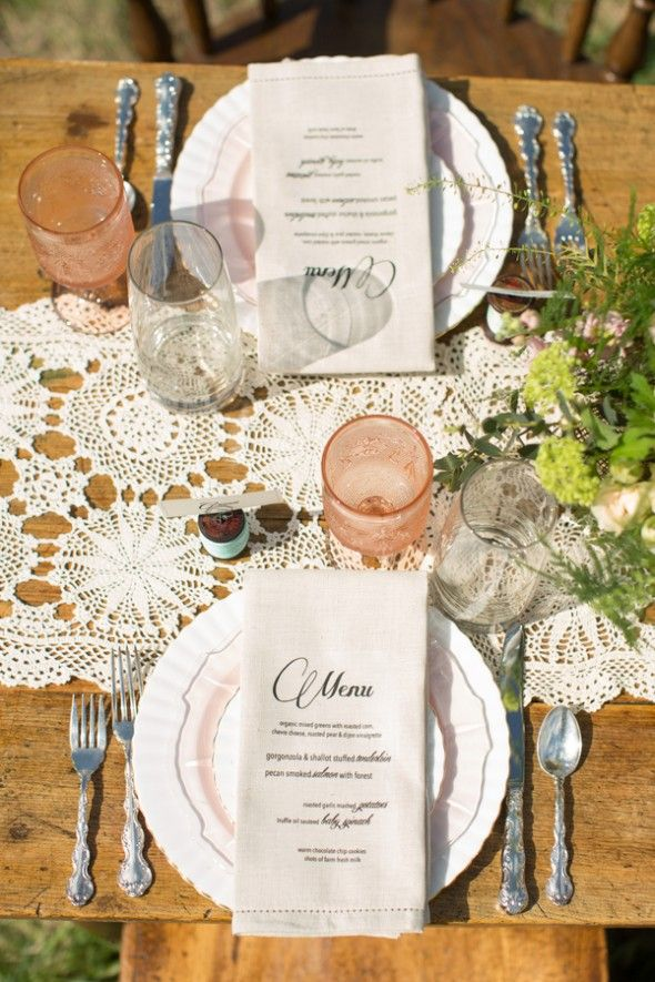 Vintage Wedding Table Setting