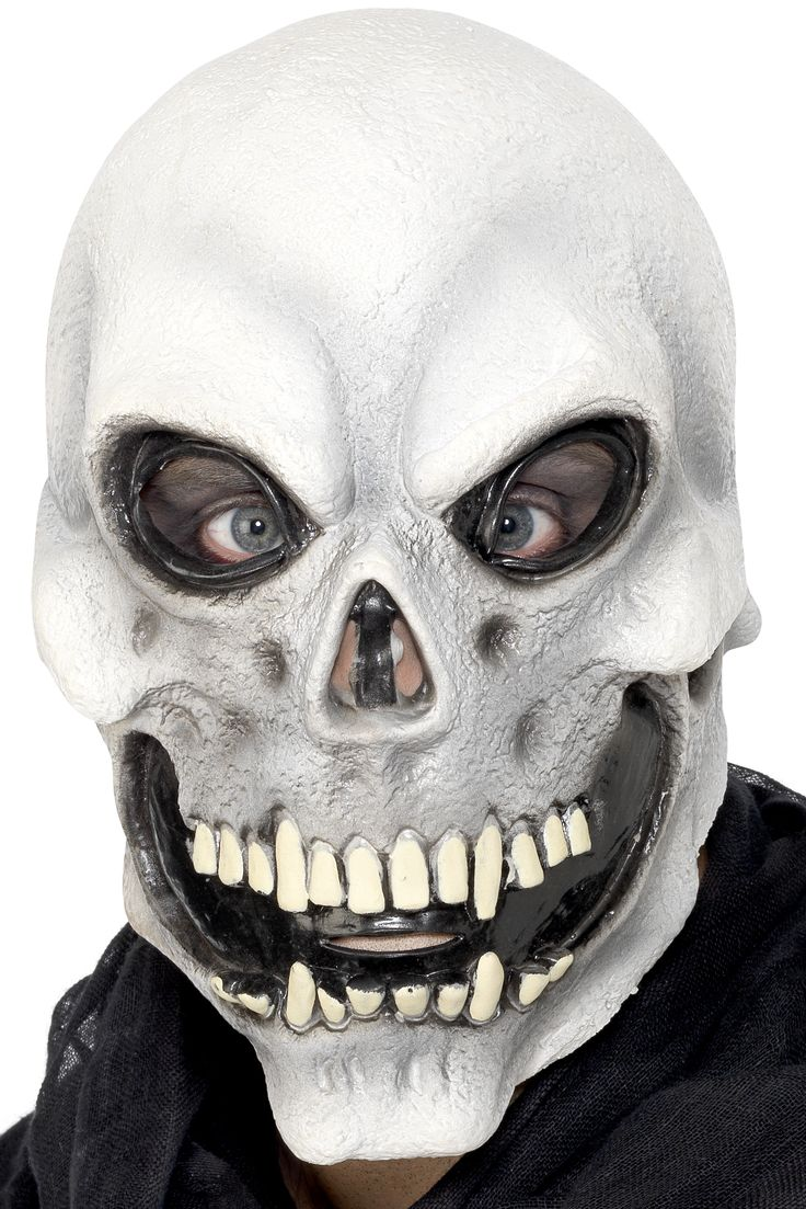 Dit grijze skeletmasker voor volwassenen zal ideaal geschikt zijn voor het compleet maken van een skelet Halloween kostuum! - Nu verkrijgbaar op Vegaoo.nl