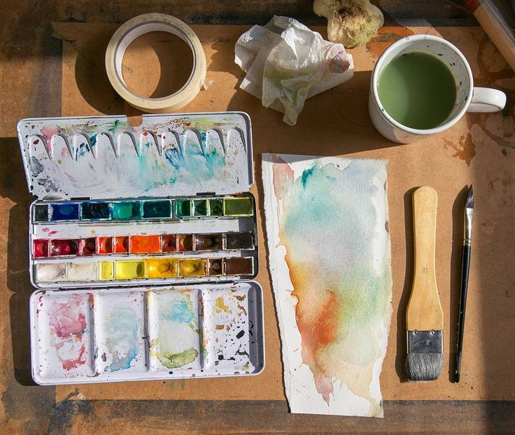 Painting tools / Ulla Thynell illustration