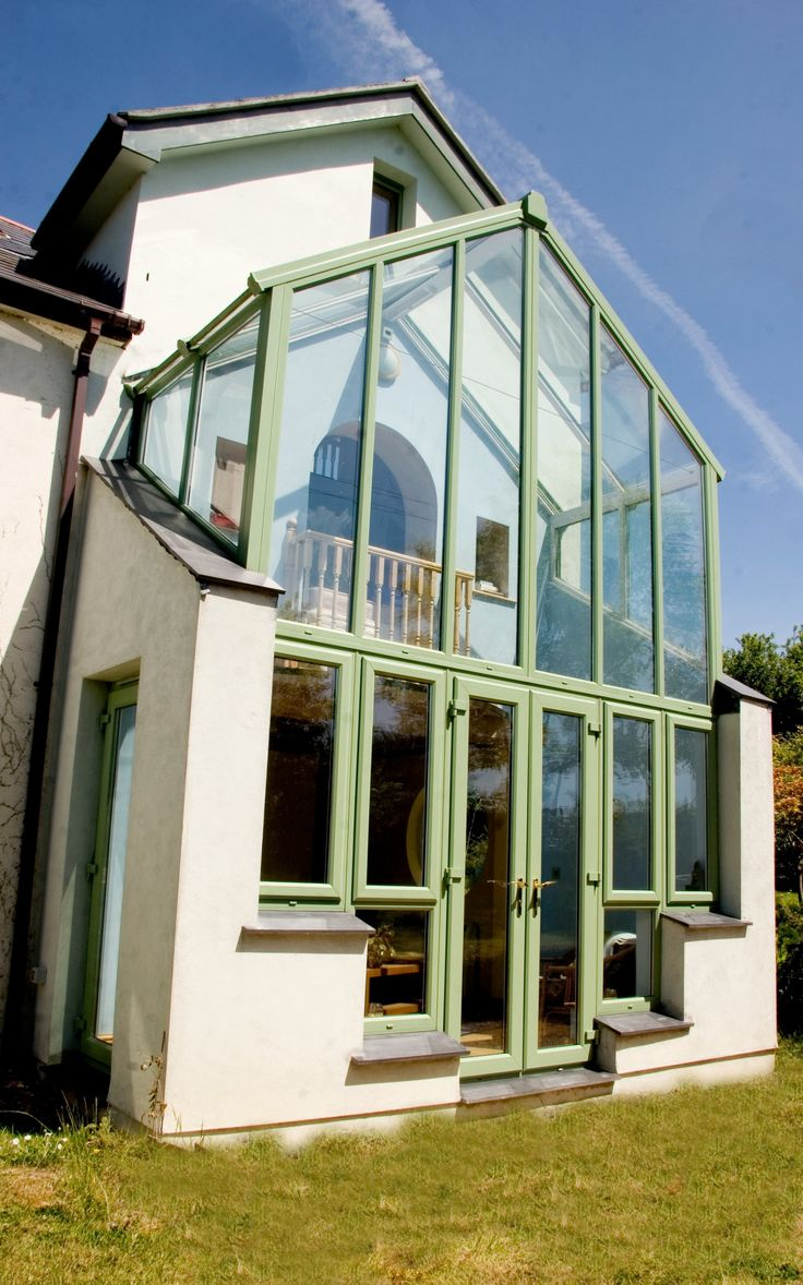 Conservatories concept windows and conservatories essex - Bespoke Upvc Conservatory Painted Green Designed Installed By Philip Whear Windows Conservatories In Cornwall