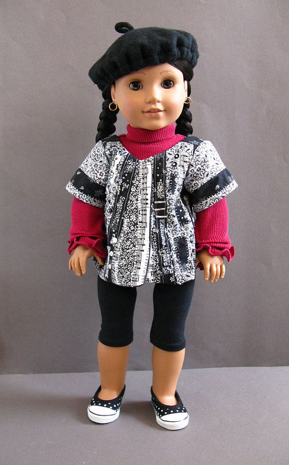 Crimson November an outfit for 18 inch dolls by mimiville on Etsy, $45.00 I'm usually not a fan of making Josefina modern, but I love this outfit on her!