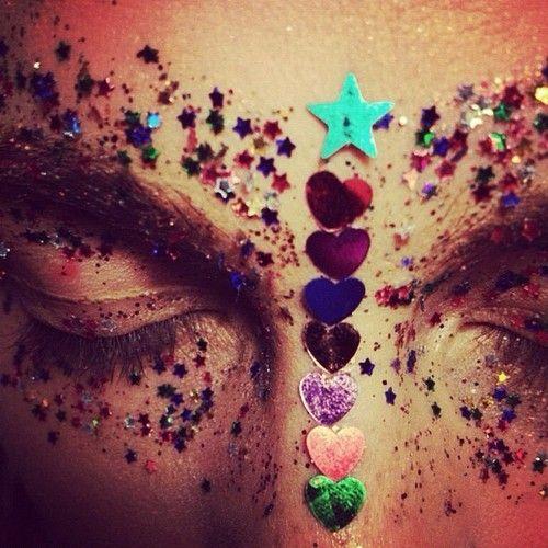 ready for a tutorial? haha ;): Face, Idea, Inspiration, Makeup, Art, Festival, Glitter, Hair, Eye