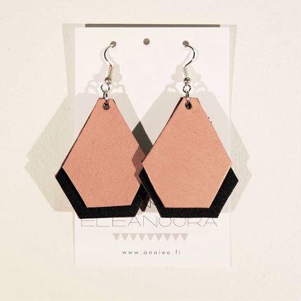 Varjo-korvakorut by Annie Eleanoora #annieeleanoora #korvakorut #earrings #kierrätysnahka #recycledleather