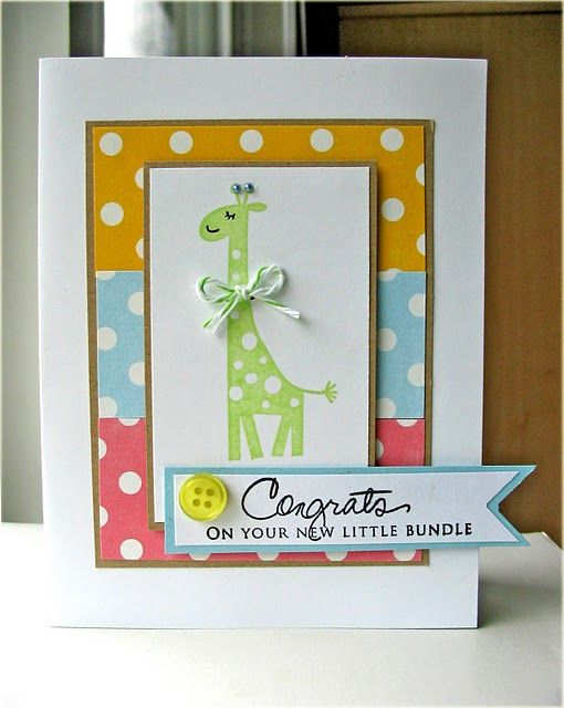 wild about you: Children Cards, Cute Baby, Cards Ideas, Baby Cards, Papertrey Blog, Giraffes Cards, Baby Giraffes, Cards Baby, June Papertrey