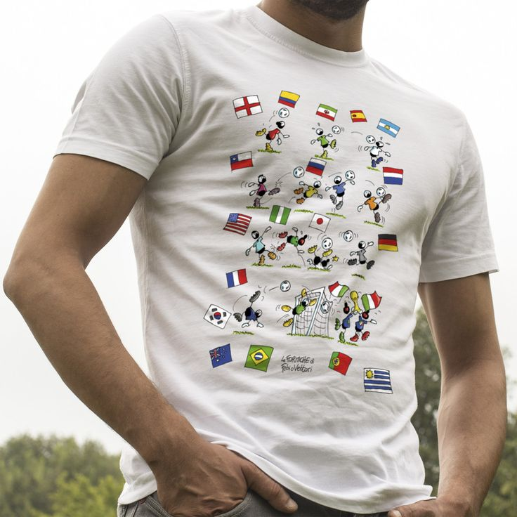 "T-shirt ""Mondiali di calcio"".   #mondiali #calcio #worldcup"