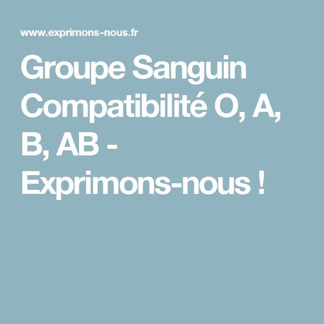 Groupe Sanguin Compatibilité O, A, B, AB - Exprimons-nous !