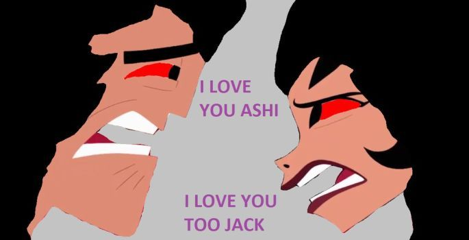 Jack and Ashi last moment by MnstrFrc
