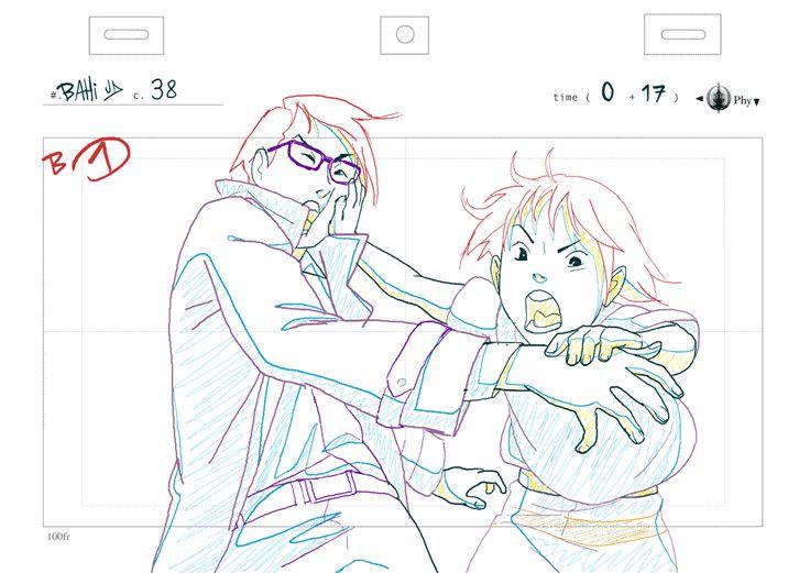 C38+C39 animation作画: Bahi JDバヒMy animation works for Koji Morimoto's『A Better Tomorrow 』scene.Production:phy/KojiMorimoto森本晃司