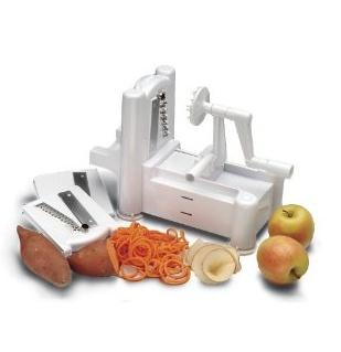 World Cuisine A4982799 Tri-Blade Plastic Spiral Vegetable Slicer - $61.99 World Cuisine A4982799 Tri-Blade Plastic Spiral Vegetable Slicer