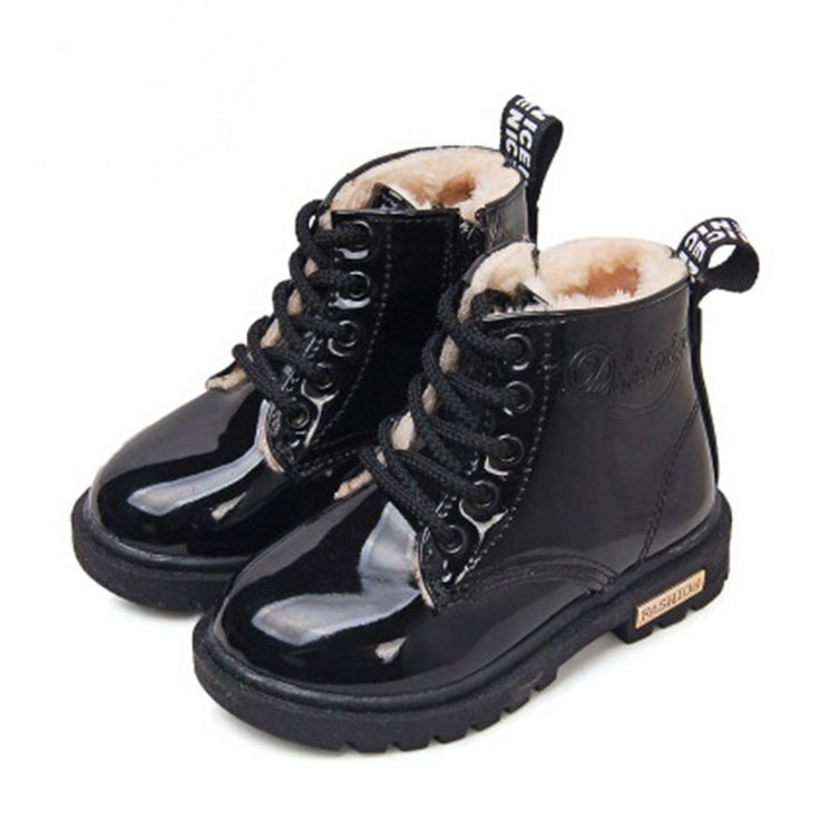 2016 New Winter Children Shoes PU Leather Waterproof Martin Boots Kids Snow Boots Brand Girls Boys Rubber Boots Fashion Sneakers-in Boots from Mother & Kids on Aliexpress.com | Alibaba Group