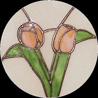 flowers. tulip. Mum's work. Inspired by life. Mum on glass. Stained glass/ witraże.