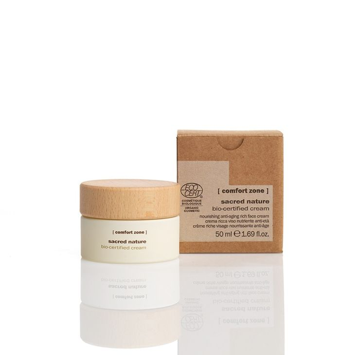 #ComfortZone Sacred Nature Cream. Nourishing anti-aging rich face cream. A rich, concentrated nourishing cream formulated with exclusive natural and organic active ingredients and enveloped in a texture which is soft and easily absorbed. With powerful anti-aging actions and a daily vital defence, it is also the ideal protection for cold climates, ensuring the well-being of the skin. With organic buriti oil, butterfly bush extract, shea butter, orange distilled water.