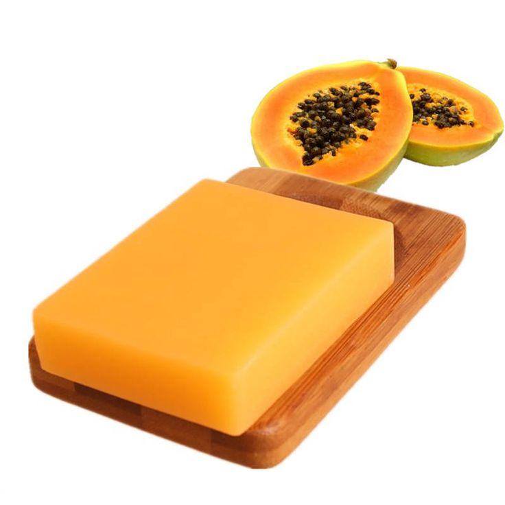 Green Papaya Whitening Handmade Soap Deep Cleansing Bath Soap 100g