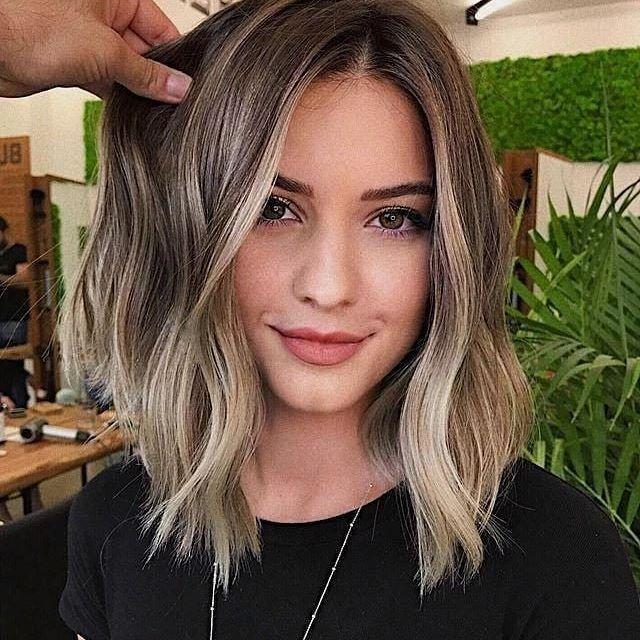 65 beste frisuren mittellang stufig   short hair balayage