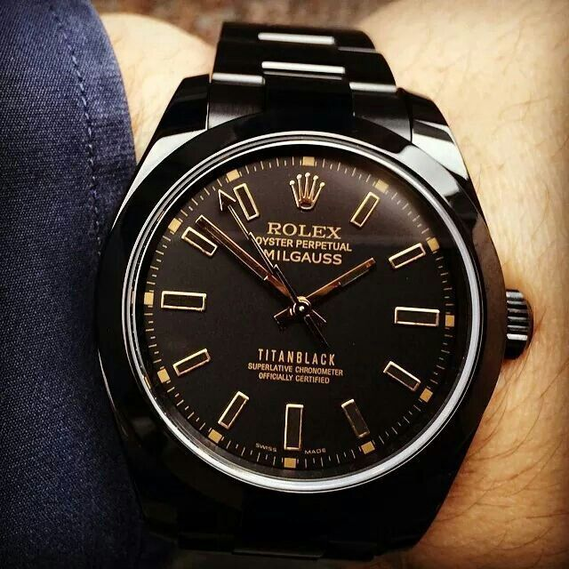 Custom Rolex Milgauss by Titan Black Quality watches form around the wold at fantastic prices