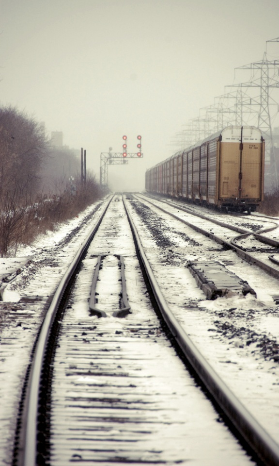 Dupont tracks in winter.