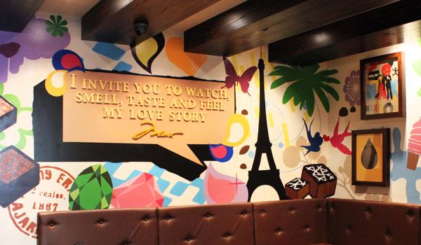 Max Brenner Lakeside Joondalup Max Brenner  #Shop #Chocolate #Chocolatier #Retail #Design #Graphic #Illustration #Sweet #Candy #Feature #Wall #Graphic #Paris