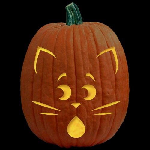 Pumpkin Carving Templates Cat 28 halloween cat pumpkin stencils for ...