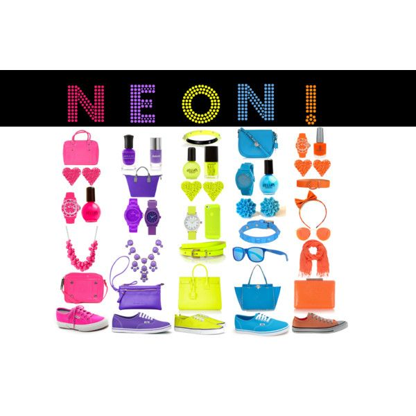 """""""Neon accessories"""" by spaulding262 on Polyvore Neon accessories for summer!!!"""
