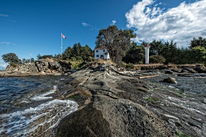 Mayne Is lighthouse, Southern Gulf Islands, BC by Tony Snelgrove