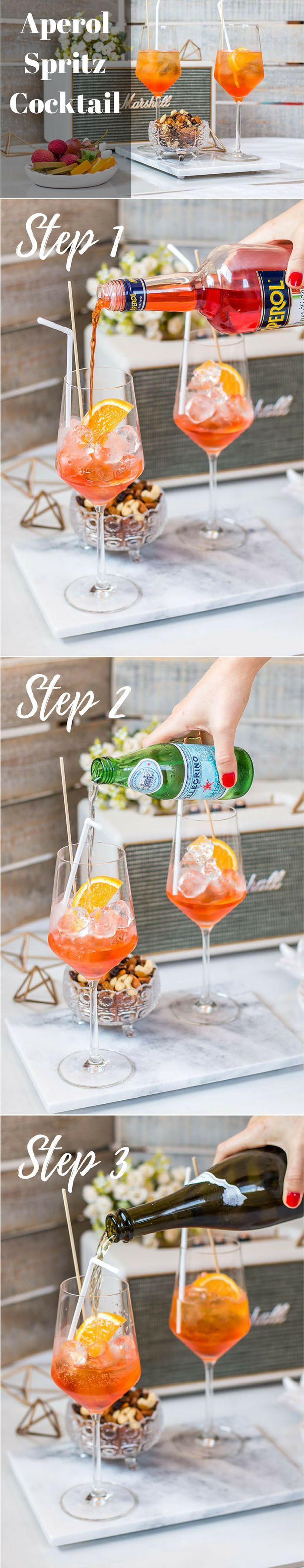 Aperol Spritz recipe - how to make the Italian refreshing & easy summer cocktail at home - Click on the photo for the full recipe @ www.hedonistit.com