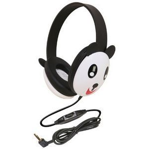 Califone Kids Stereo and PC Headphone (2810-PA) by Califone. $13.32. 3 - 10 years. Add interest to your listening center with these adorable panda themed headphones. Features include volume controls, slotted baffles to protect against accidental perforation on the internal speaker and ambient noise-reducing earcups to help children focus on their tasks.