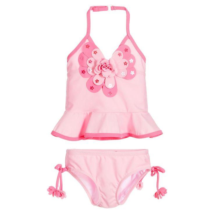Kate Mack & Biscotti Girls Pink Tankini  at Childrensalon.com