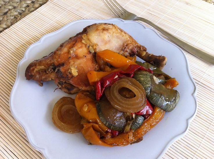 Το κοτόπουλο με λαχανικά και μπαλσάμικο είναι από τις ευκολότερες συνταγές αυτή τη στιγμή στο μπλόγκ! Πραγματικά ακόμα δυσκολεύομαι να πιστέψω πόσο γευστικό γίνεται αυτό το πιάτο με τόσο λίγα υλικά και τόσο απλή διαδικασία. Χωρίς ίχνος λαδιού, είναι ό,τι πρέπει για δίαιτα αλλά και για όποιον θέλει ένα ελαφρύ αλλά πολύ νόστιμο γεύμα.