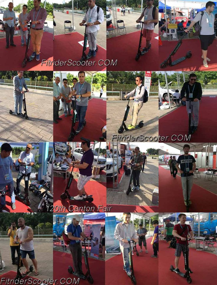 Fitrider Scooter at Canton Fair in Guangzhou city of China