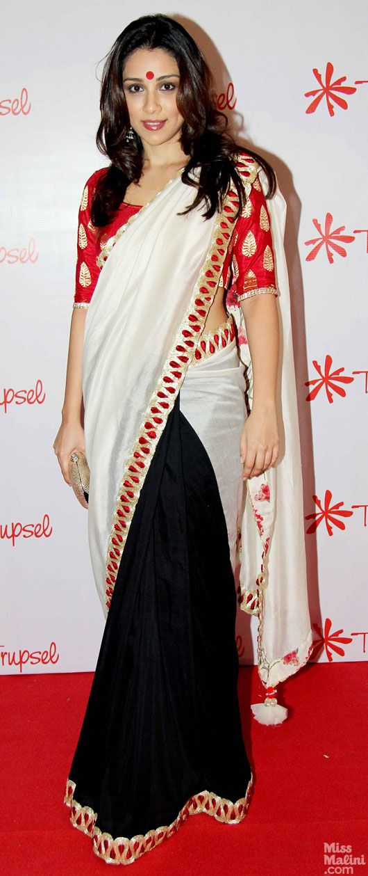 New trend - half and half saris.